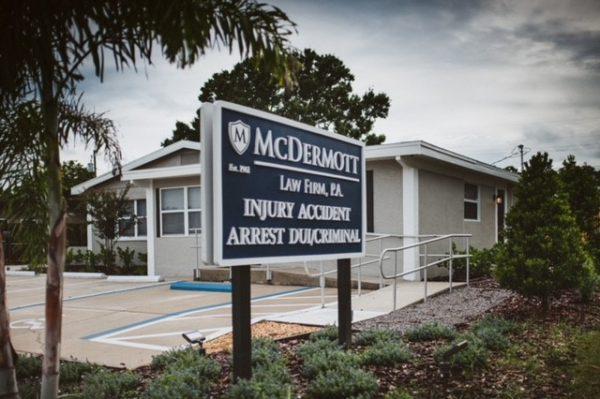 Seminole Office Sign | McDermott Law Firm, P.A.