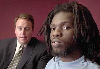 Attorney Frank McDermott and his client Ricardo Thomas.